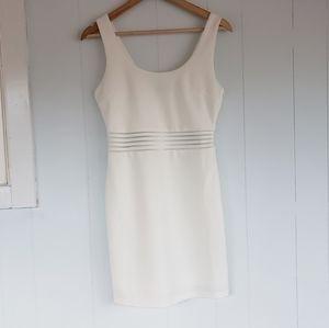 Lulu's Size Medium Shift Cream Sleeveless Dress
